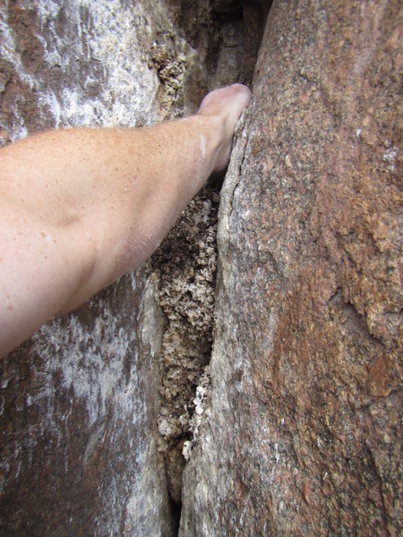 Rock Climbing Photo: Beta for proper avoidance of poo