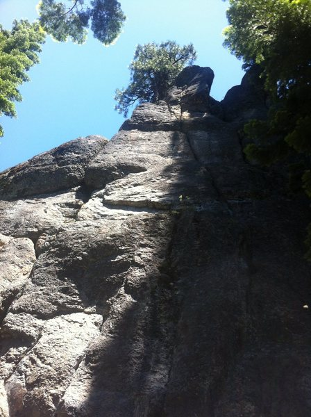 Rock Climbing Photo: The Eagle Has Landed is the left-leaning crack tha...