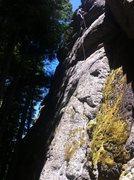 Rock Climbing Photo: Leo at the anchors of Dreamland