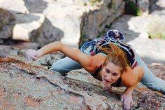 Rock Climbing Photo: P2 Topaz, Devil's Head, CO.