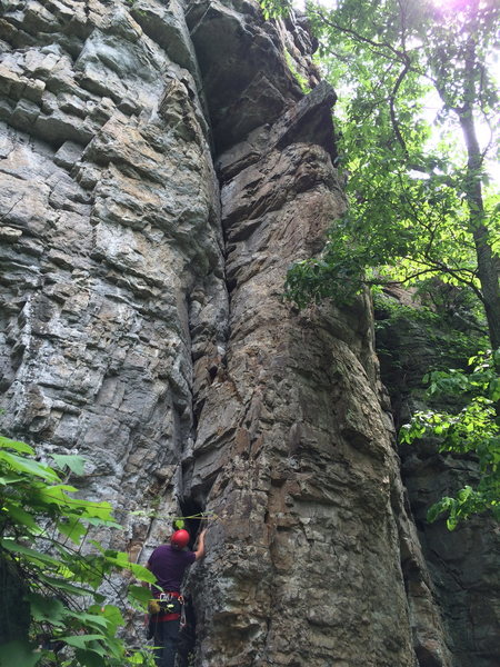 Rock Climbing Photo: Look for the triangular prow