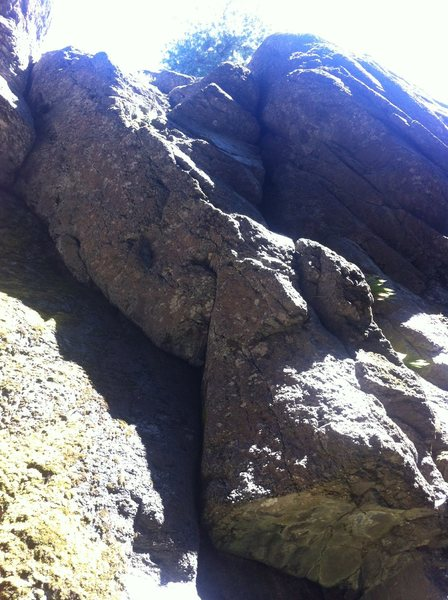 Rock Climbing Photo: Where the bolts for War of the Worlds should start...