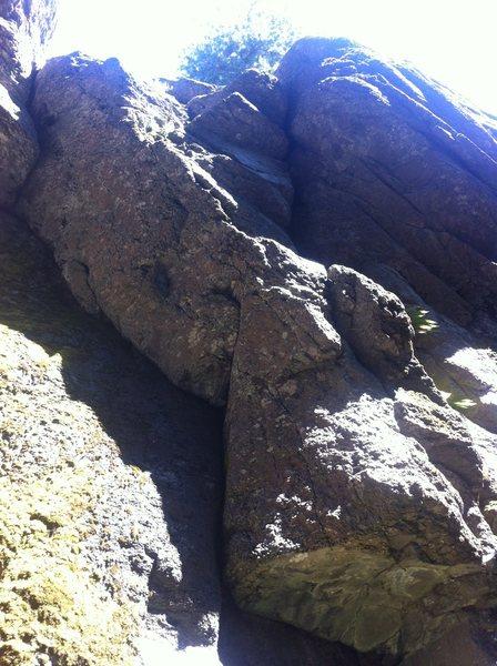 Rock Climbing Photo: Slab at the beginning of Men In Black