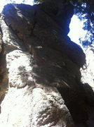 Rock Climbing Photo: Huge blocks, fat cracks: Rocketman!