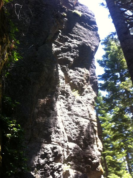Front-facing view of ET (Extra Trad) from the  belay pad