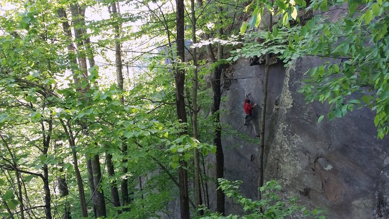 sean moving into the crux, may '15