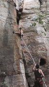 Rock Climbing Photo: Slap - stays dry on a rainy day!