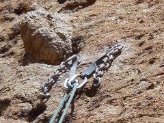 Rock Climbing Photo: The new anchor on Aqua Negro (06-06-15).
