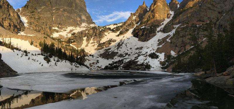 Rock Climbing Photo: Emerald Lake.