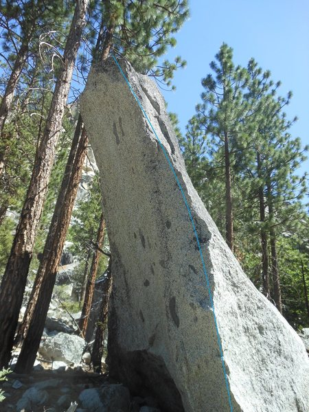 Rock Climbing Photo: Slap your way up the arete and top out.  High ball...