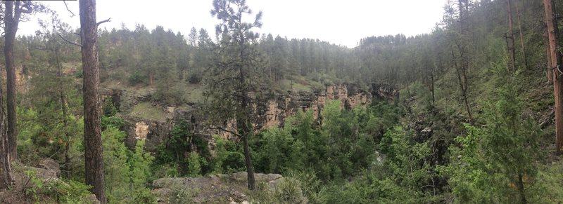 Rock Climbing Photo: panorama of the vc