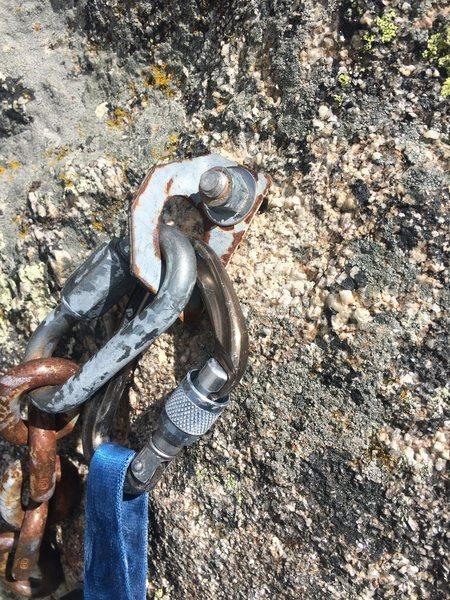 Rock Climbing Photo: Old 1/4 inch bolt