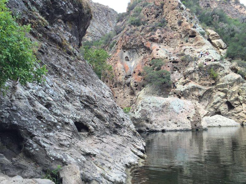 Rock Climbing Photo: Start of the traverse at Rock Pool. 1 hour traffic...