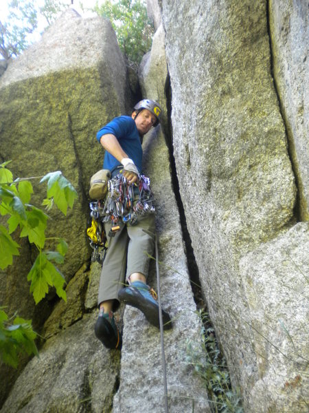 Rock Climbing Photo: This is the chimney that takes you up onto the scr...