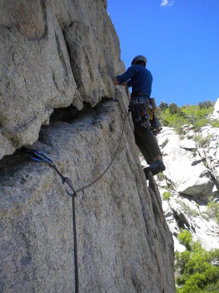 Rock Climbing Photo: Getting into the burly action!
