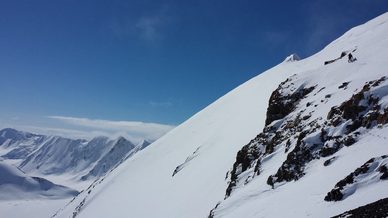 Climbing and skiing peaks above the Nelchina Glacier.