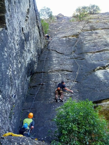 Rock Climbing Photo: Far right wall. Climbers on the right are on &quot...