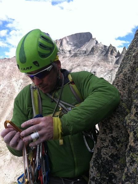 Rock Climbing Photo: racking on Spearhead