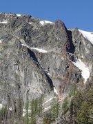 Rock Climbing Photo: North Tower Ridge Route topo