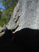 Rock Climbing Photo: Follow zigzag to the top.  Obvious line.