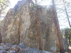 Rock Climbing Photo: Anyone know the names of these routes and/or their...