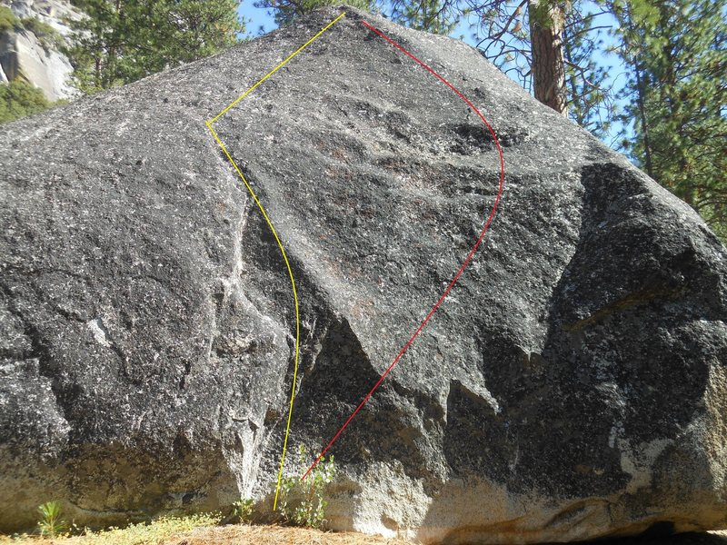 Rock Climbing Photo: Test your rubber up the YELLOW line on LEFT.