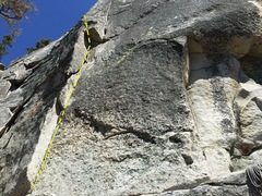 Rock Climbing Photo: route starts at left
