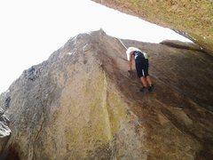 Rock Climbing Photo: Halfway...