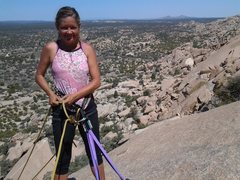 Rock Climbing Photo: Halfway up..