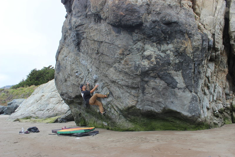 Projecting slippery v5 at stinson beach