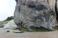 Projecting slippery v5 at stinson beach