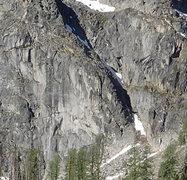 "Rock Climbing Photo: The North Face rock - ""Main Wall"" and &q..."