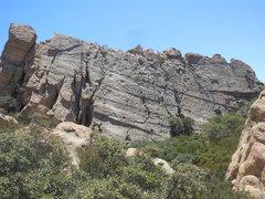Rock Climbing Photo: The Corpse Wall at Saddle Peak.