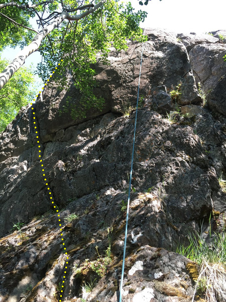 Rock Climbing Photo: Syntax- climb is left side of photo, follow obviou...