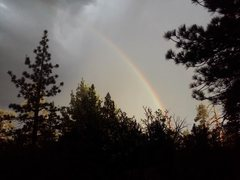 Rock Climbing Photo: Summer storm and rainbow, Holcomb Valley Pinnacles