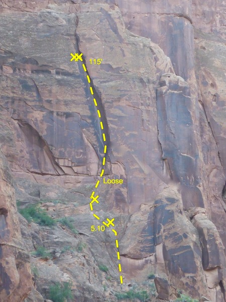 Rock Climbing Photo: climbs face to the arcing corner, climbs corner to...