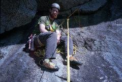 Rock Climbing Photo: Belay at top of P1