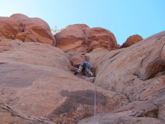 Rock Climbing Photo: Streaker Spire summit pitch, 15 feet below the so-...