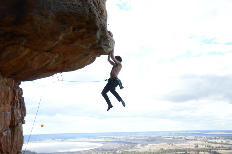 Rock Climbing Photo: Yes I was being a total poser, that's half the fun...