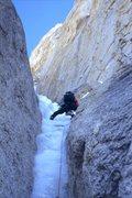 Rock Climbing Photo: Greg exiting the Narrows