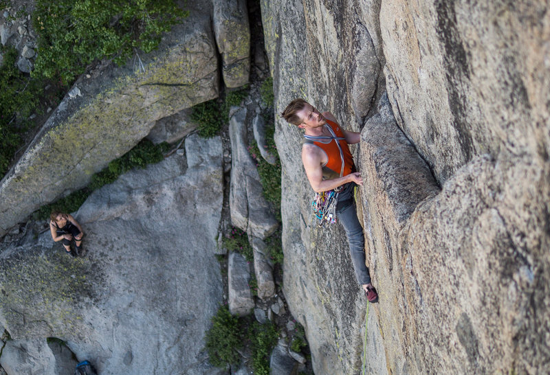 Rock Climbing Photo: Below the crux on Nova Express. Shot by Simon Moor...