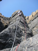 Rock Climbing Photo: Starting the steep arête.