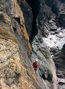 Rock Climbing Photo: Great rock on the upper slab (Photo by Charles Kin...
