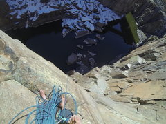 Rock Climbing Photo: Fremont Canyon, Easy Day for a Lady 5.9