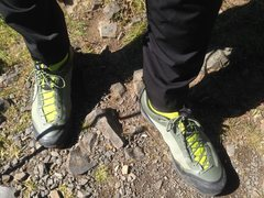 Rock Climbing Photo: New shoe modeling @ Rooster Rock