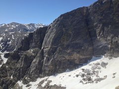 Rock Climbing Photo: Hallett Peak, North Face 6/18/2015