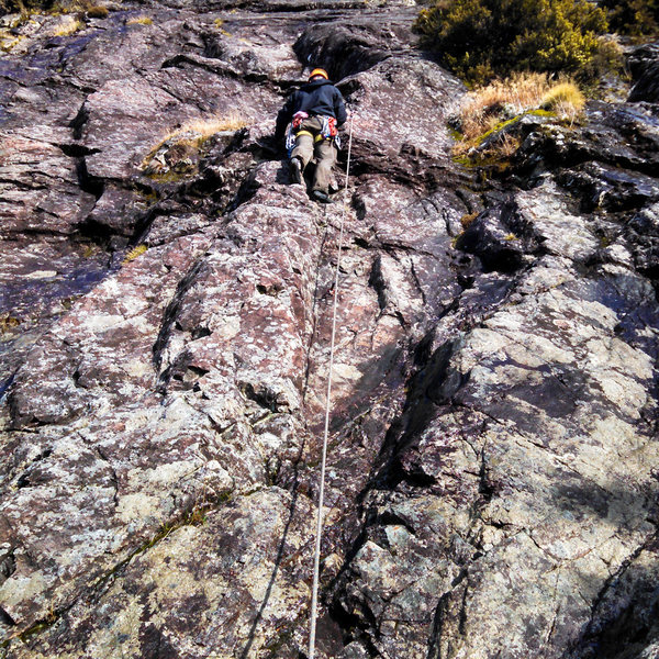 Rock Climbing Photo: First pitch of Red Arete.