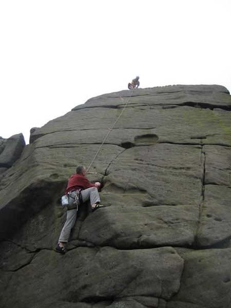 Rock Climbing Photo: The upper slab.