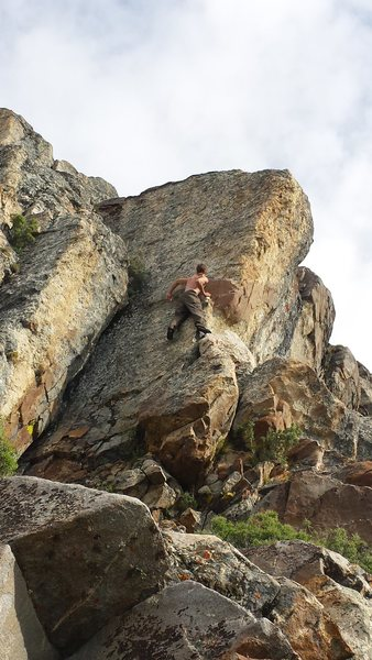 Myself on the first ascent of Trout Slayer. June 11, 2015.