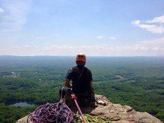 Rock Climbing Photo: Best belay ledge in the Gunks!